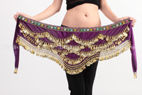Handmade Belly Dance Belt Sash Hip Skirt Scarf Wrap Velvet M...