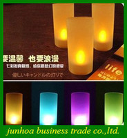 Wholesale Popular LED Candle light Voice control Candles Electronic color change Lamp Gifts