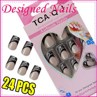 Full Natural Tips Oval Nail Tips Bestselling Nail Art Salon French Nail Tips Acrylic Nails False 24pcs New Designed Mixed 30set Lo