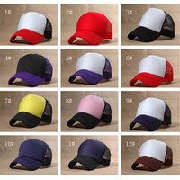 Wholesale Men Hats Trucker Hat Fashion Trucker Cap Mesh Cap Baseball Hats Ladies Sun Hat Ball Cap