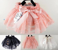 Summer Lace Bow Hot sale wholesale girls TuTu skirt dresses,baby Bow skirt,Child Lace clothes,Free shipping4PCS lot