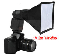 Wholesale 17x15cm Universal Flash Softbox Diffuser Softbox Flash light Lighting Softbox for Speedlite