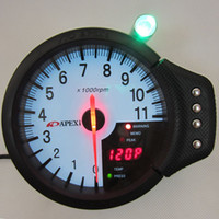 Wholesale 120mm Apexi in Gauge Tachometer RPM Water Temp Oil Press Funtions in Meter White Face