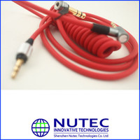 Wholesale 3 mm L Plug Red amp Black Headphones Cable without ControlTalk for PRO Headsets
