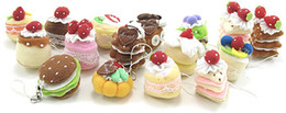 Wholesale 1 set Mini Cute Sweet Cloth CAKE Key Chain Hanging Wedding Favor Gift Hot