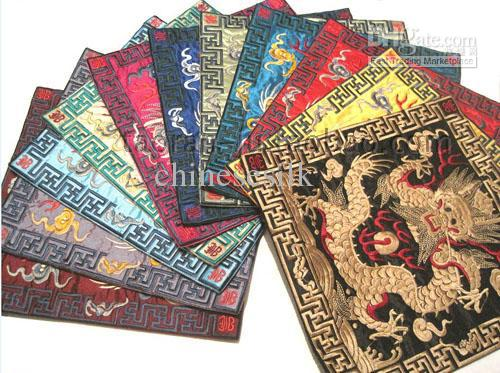 2017 designer placemats small square chinese satin fabric for Small square placemats
