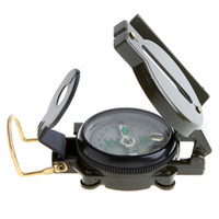 Wholesale Superior quality pocket compass Mini Military Camping Marching Lensatic Compass Magnifier H8737