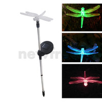 Cheap LED Stainless Steel Light Garden Solar Powered Landscape Lawn Light Dragonfly