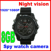 Wholesale 8GB New P hd infrared Night Vision spy Watch Hidden camera Waterproof Motion Detection