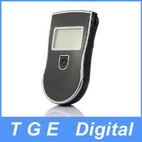 Wholesale High Accuracy Portable Digital LCD Display Police Breath Alcohol Tester Analyzer Breathalyzer with Additional Mouthpiece Black