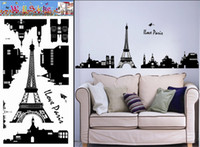 Wholesale The Eiffel Tower in Paris Wall Stickers Wall adornment picture posted item No