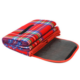 Wholesale Quality Red quot X quot Waterproof Outdoor Picnic Camping Moistureproof Mat Plaid Blanket H8798