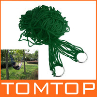 Wholesale Green Strong Nylon Hammock Hanging Bed Mesh Net Outdoor Camping For Single H8805