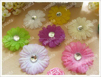 Wholesale 96PCS Inch Baby Crystal Daisy Flower Hair Bow Clip Girl Gerbera Flowers Inch Hair Clips ij3s