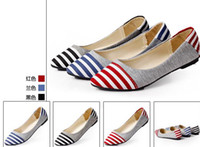 Wholesale Hot selling Summer Classics Retro cusp stripe Flattie Flat shoes