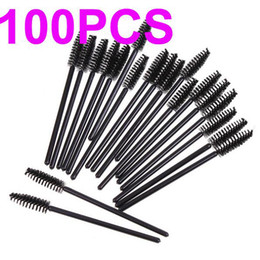 Wholesale 100pcs Disposable Eyelash Mascara Applicator Wand Brush makeup brush One off Eyelash brushes