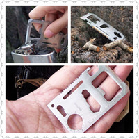 Wholesale 11 in Multi Function Emergency Card Tool Hunting Camping Survival Pocket Military Knife