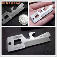 multi purpose knife - 5 in TIMBERLINE R085 Stainless Multi Purpose Stainless O2 Wrench Pocket Military Card Knife
