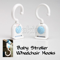 Wholesale Wheelchair Swiveling Accessory Hooks Velcro Baby Stroller Car Seat Multipurpose