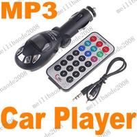 Wholesale 10pcs J93 NEW Car MP3 Player FM Transmitter USB SD MMC Slot Black Silver