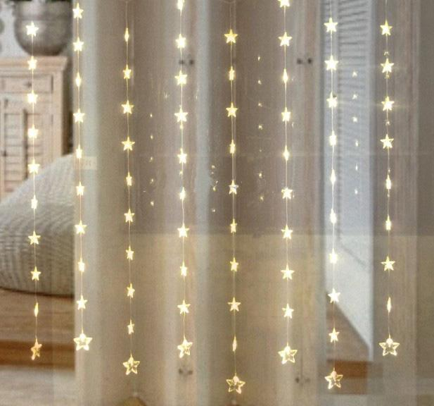 Long Curtain String Lights : Cheap Warm White Five Pointed Star Curtain Light Led Light String Window Light Led String Lights ...