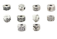 Wholesale 200pcs silver plated stopper beads Clips Locks charms fit biagi bracelets tdmix1