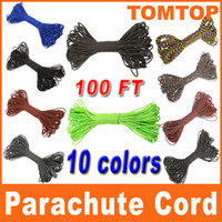 Wholesale 10 Colors Desert Paracord Parachute Cord Core Strand ft lb Nylon Outdoor Survival Rope H8137 H8138 H8139 H8140 H8141