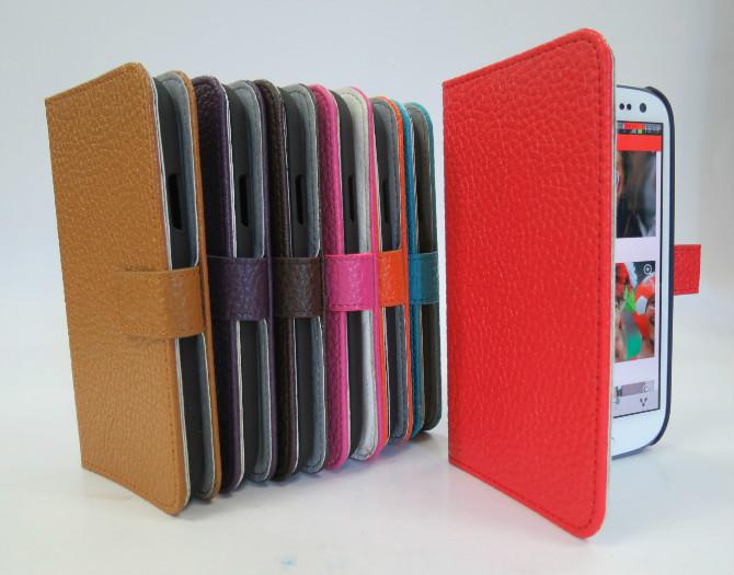 50pcs Wallet leather case cover stand for Samsung Galaxy S3 SIII I9300