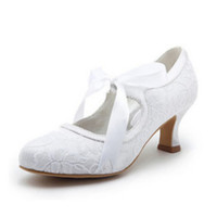 Wholesale 2012 Cheap Low heel Bows Satin white ivory Women Prom Party Dress Bridal Wedding Shoes