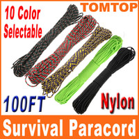 Wholesale 10 Colors Desert Paracord Parachute Cord Core Strand ft lb Nylon Outdoor Survival Rope Kits H8137 H8141