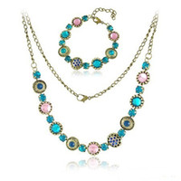 Wholesale Vintage Jewelry Sets Fashion Baroque Style Necklace Bracelets Jewelry Sets LM S028