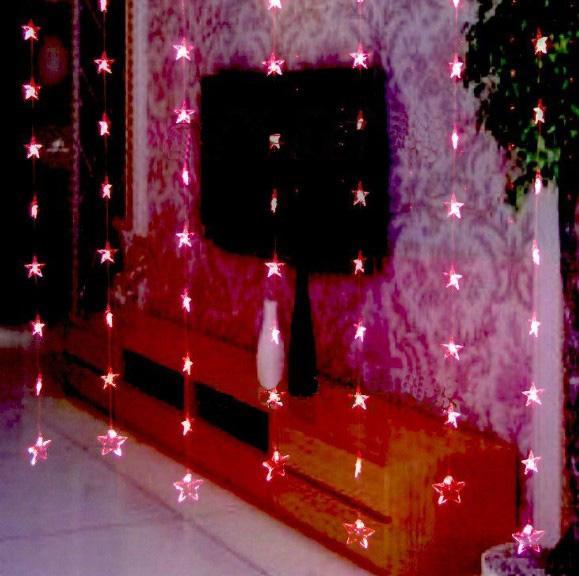 Red Star Lights Curtain Lights Christmas Lights Led Light String Round String Lights Low Voltage ...
