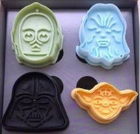 Wholesale Cookie cutters types D Star Wars Cartoon characters shape Bakeware baking tools cookie
