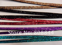 Wholesale crystal lanyard Crystal decorative rhinestone neck lanyard strap