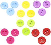 Wholesale 600 Mixed Acrylic Holes Sewing Buttons Scrapbooking For DIY Craft mm
