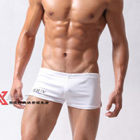Men Cotton Boxers & Boy Shorts AQUX: free shipping wholesale and retail low-waist sexy fashion leisure stretch men's boxer shorts\home pants\Arrow pants: AQg0b