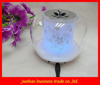 Wholesale Transparent Crystal Colorful Apple Small Mini Speakers For Mobile phone MP3 MP4 Little Speakers