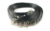Wholesale Promotion Leather Chain Necklace Black Leather Rope Pendant Accessories mg01