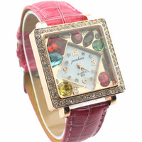 Wholesale Brand new mix order Full gemstone zircon Watch fashion unisex watches hot sale women watch WPD