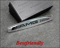Wholesale 2pcs AMG Aluminum Alloy D Car Nameplate Badge Emblem Sticker Badges Newest