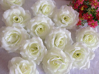 Wholesale WHITE p cm inches Artificial Simulation Silk Camellia Rose Flower Wedding Christmas Party