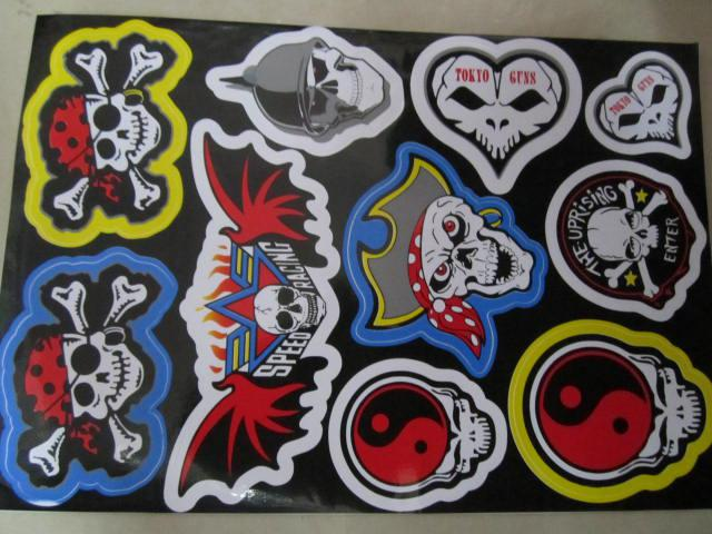 Skull Cool Stickers Decals For Motorcycle Car 50pcs Lot Personaliz ...