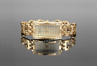 Wholesale Alias Kim New Rectangle Golden Ladies Bracelet watch