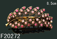 Wholesale Women zinc alloy rhinestone Hair Clips Barrettes vintage Hair Accessories mixed color F20272