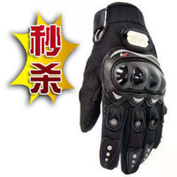 Wholesale New Motorcycle Racing Riding Protective Gloves Black Red Blue XL Satety Gloves