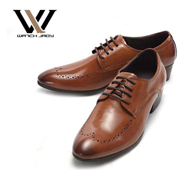 Mens Leather Dress Shoes Lace Up Oxfords Brogue Simply Classic New ...