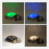 baby ni - Turtle Night Light Kid Baby Twilight Sleep Toy Stars Constellation Led Lamp Baby Care Light