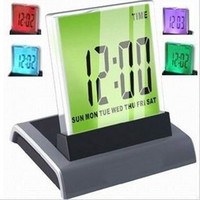 Wholesale Color Change LED Digital Charming Thermometer Alarm Clock With LCD Display