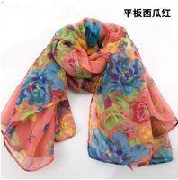 Wholesale the Korean fashion long scarf Ms South Korea winter pastoral floral scarf cotton