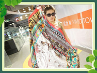 Wholesale Designer scarf women wraps unique Potala Palace silk carf wraps chiffon scarf piece C121